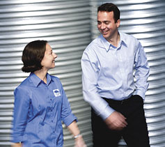 Daniel Wyatt and Christine Slade, BlueScope Water, Keysborough, Victoria.