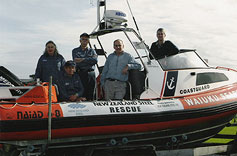 Rescue boat and safe boating program sponsored.