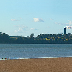New Zealand Steel on the edge of Manukau Harbour.